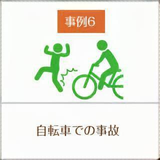 事例6、自転車での事故